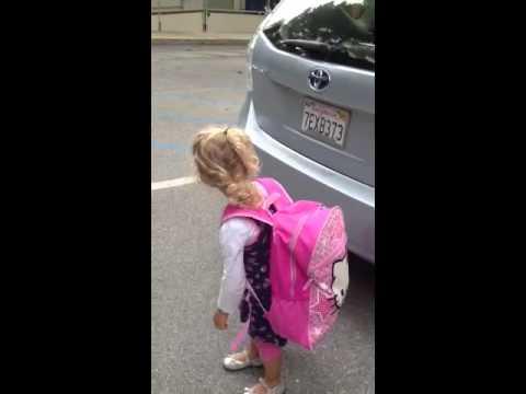 Sara's first day at Apple Pie Preschool