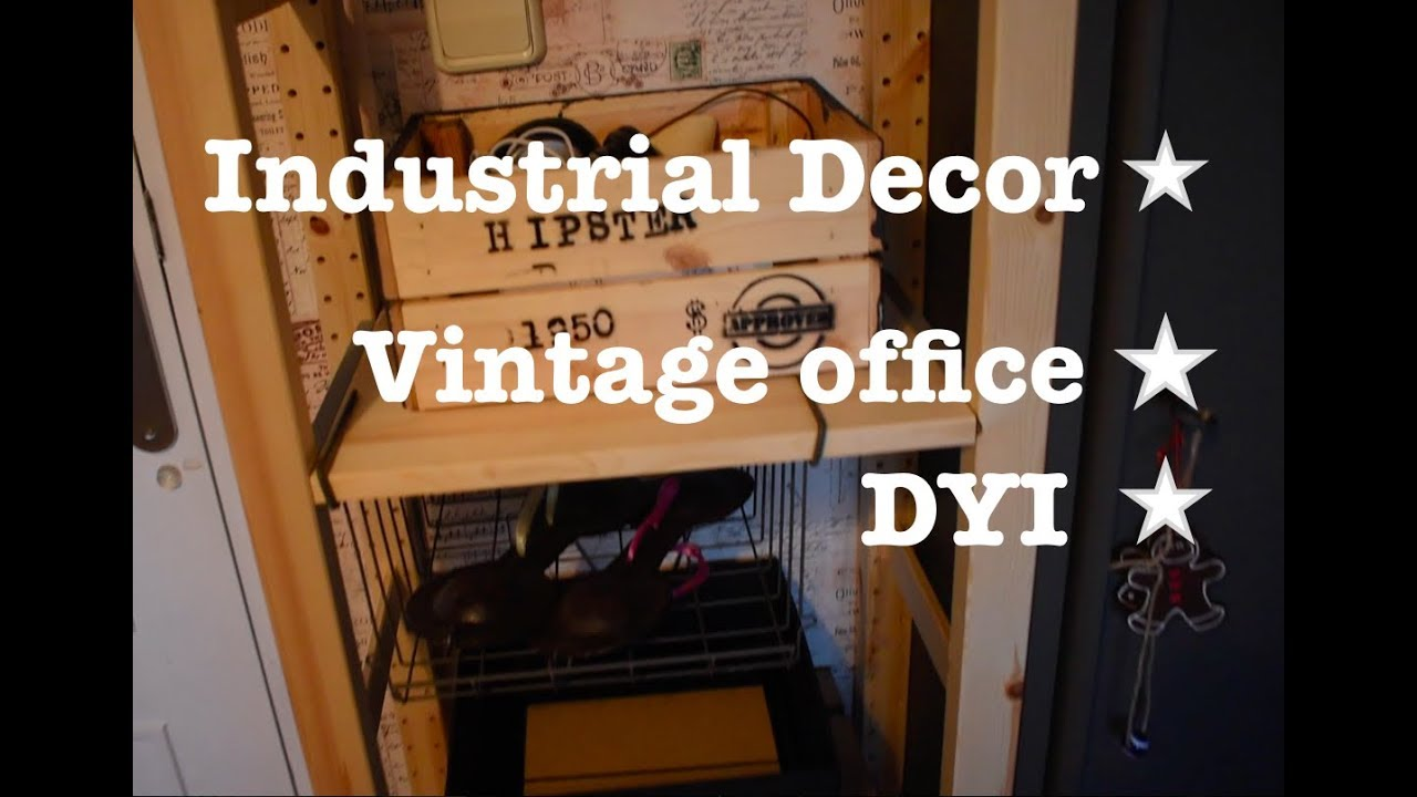 Etonnant Hipster Office? DYI Industrial Office Decor!! Vintage Decor. Vlog