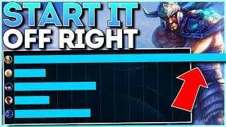 #1 CHALLENGER TRYNDAMERE MID SMURFS ON BRONZIES!! (UNRANKED TO CHALLENGER)