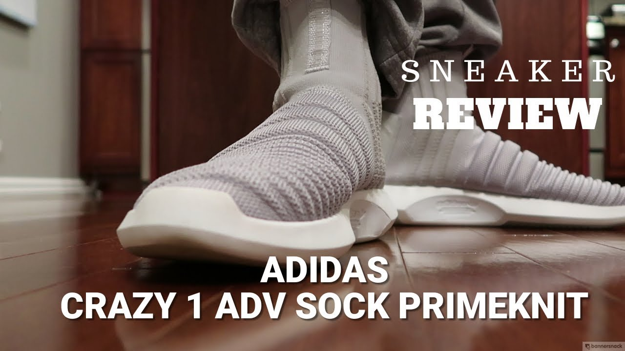 bd3740a6ca9 Adidas Crazy 1 ADV Sock Primeknit Review (Grey) - YouTube