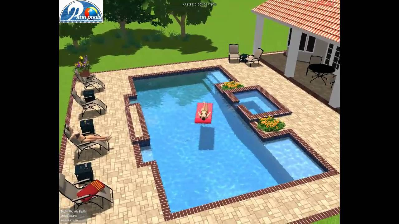 Patio Pools, Inc. Tampa, FL W/ Pool Studio   3D Swimming Pool Design    YouTube