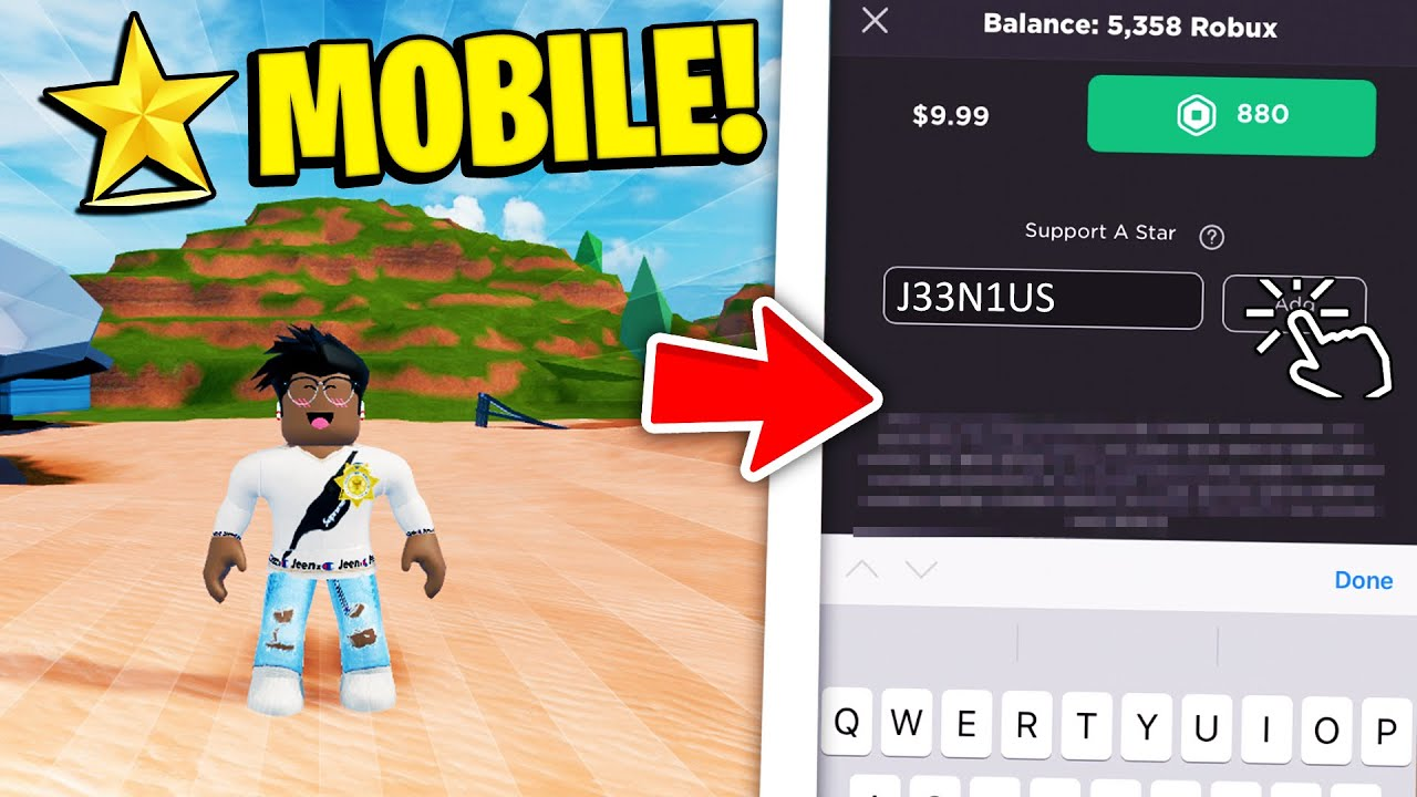 How To Use Star Codes On Mobile In Roblox Working 2020 Youtube