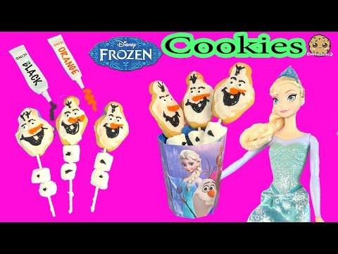 Baking Disney Frozen Olaf Marshmallow Cookie Pops Make + Bake Decorate Kit