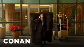 How People Are Managing To Steal Hotel Mattresses | CONAN on TBS