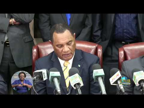 Govt./Cable & Wireless 2% Contract Signing (press conference)