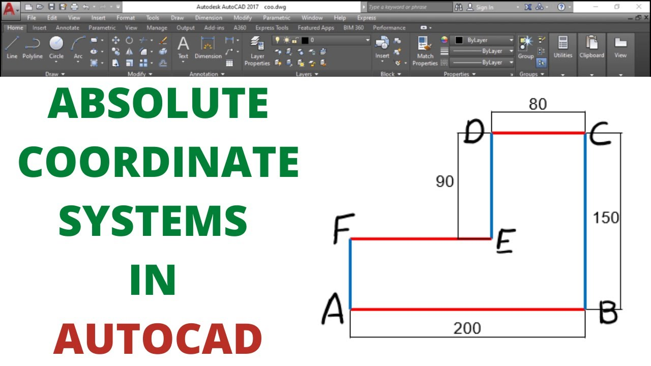Download ABSOLUTE COORDINATE SYSTEMS IN AUTOCAD
