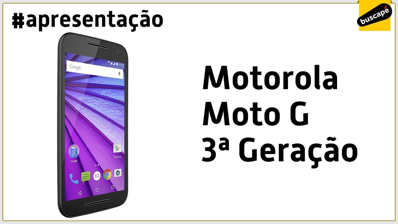 80f90fbc2 Motorola Moto G 3ª Geração XT1543 16GB - Apresentação - YouTube