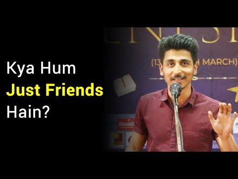 Hindi Love Poetry by Abhash Jha at MAIMS Delhi | Friendship Love Story |Hindi Storytelling on Love