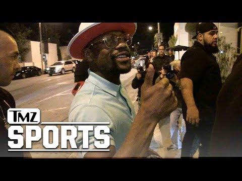 Download Youtube: Floyd Mayweather Dodges De La Hoya Questions, Parties In LA