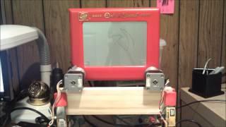 CNC controlled etch-a-sketch