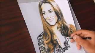 Drawing Kate Middleton (Duchess of Cambridge)