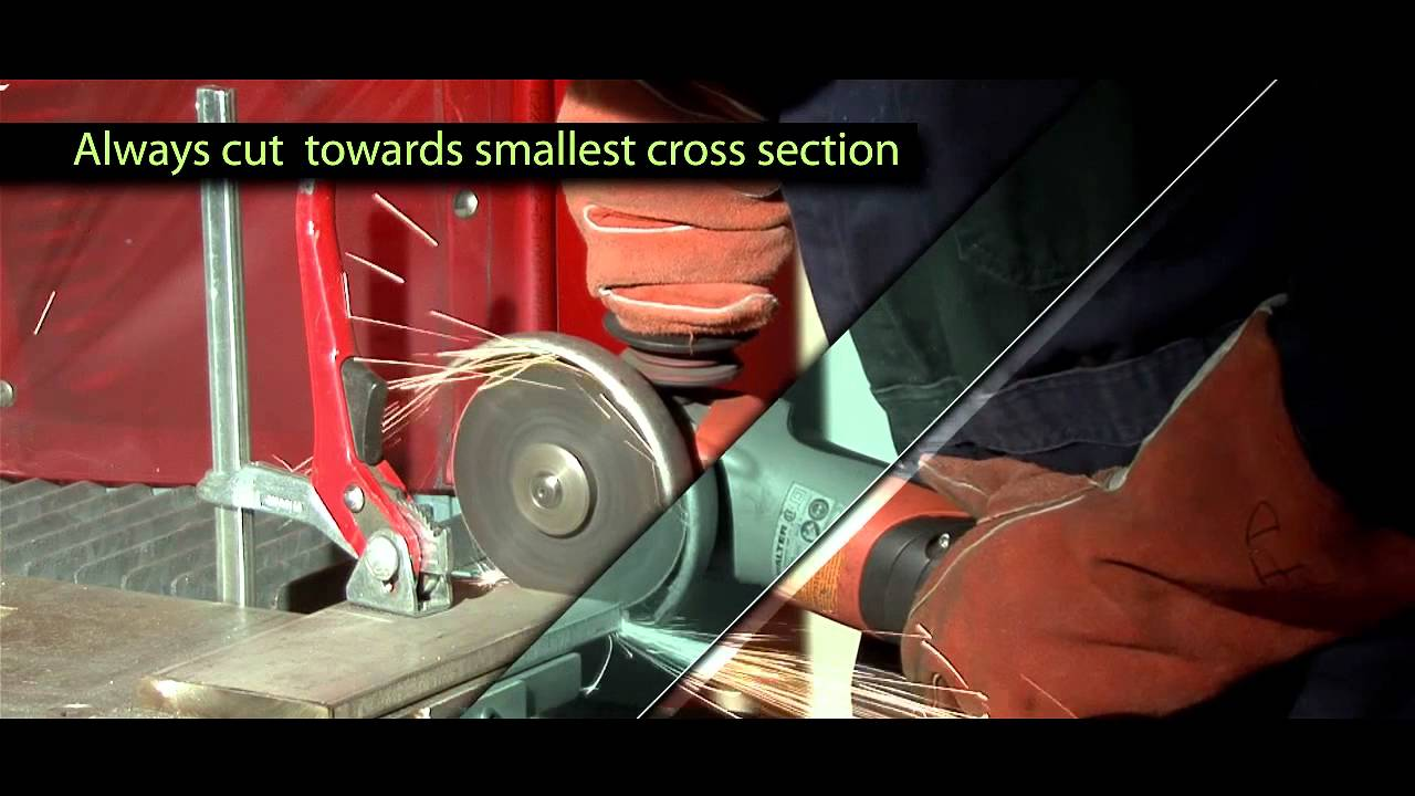 Safety Series How To Safely Operate An Angle Grinder With A Thin Cutting Wheel You