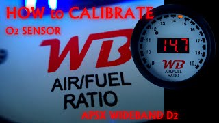 How to Calibrate APSX WIDEBAND D2 AFR GAUGE at Open Air