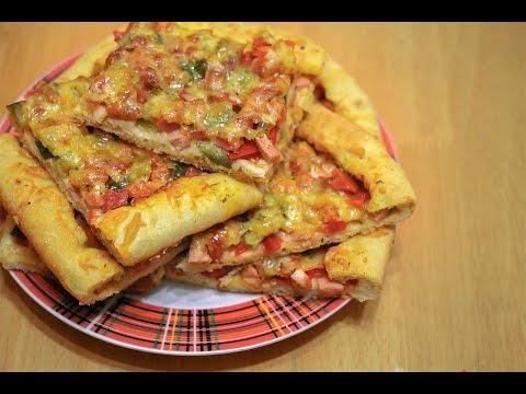 пицца фото рецепт колбаса огурцы сыр