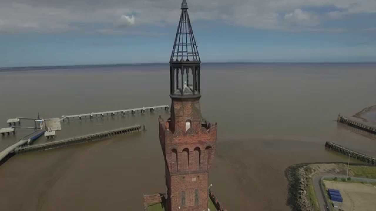 Grimsby Dock tower (2) , aerial view by Drone, DJI Phantom 3 Pro 4K. HFPH4K