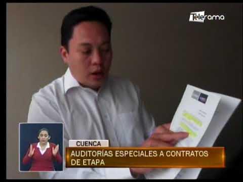 Auditoría especiales a contratos de ETAPA
