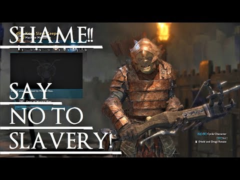 Shadow of War: Middle Earth™ Unique Orc Encounter & Quotes #77 SHAMING THIS SLAVE KEEPER!!