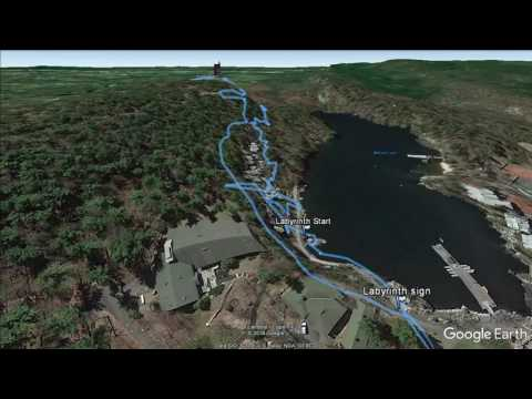 Mohonk Mountain House: Labyrinth and Lemon Squeeze (New Paltz, NY) - hike flyover