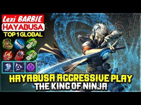 Hayabusa Aggressive Gameplay, The King Of Ninja [ Top 1 Global Hayabusa ] Lexi BARBIE