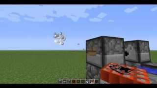 2 способа как сделать тнт(TNT) пушку в minecraft.