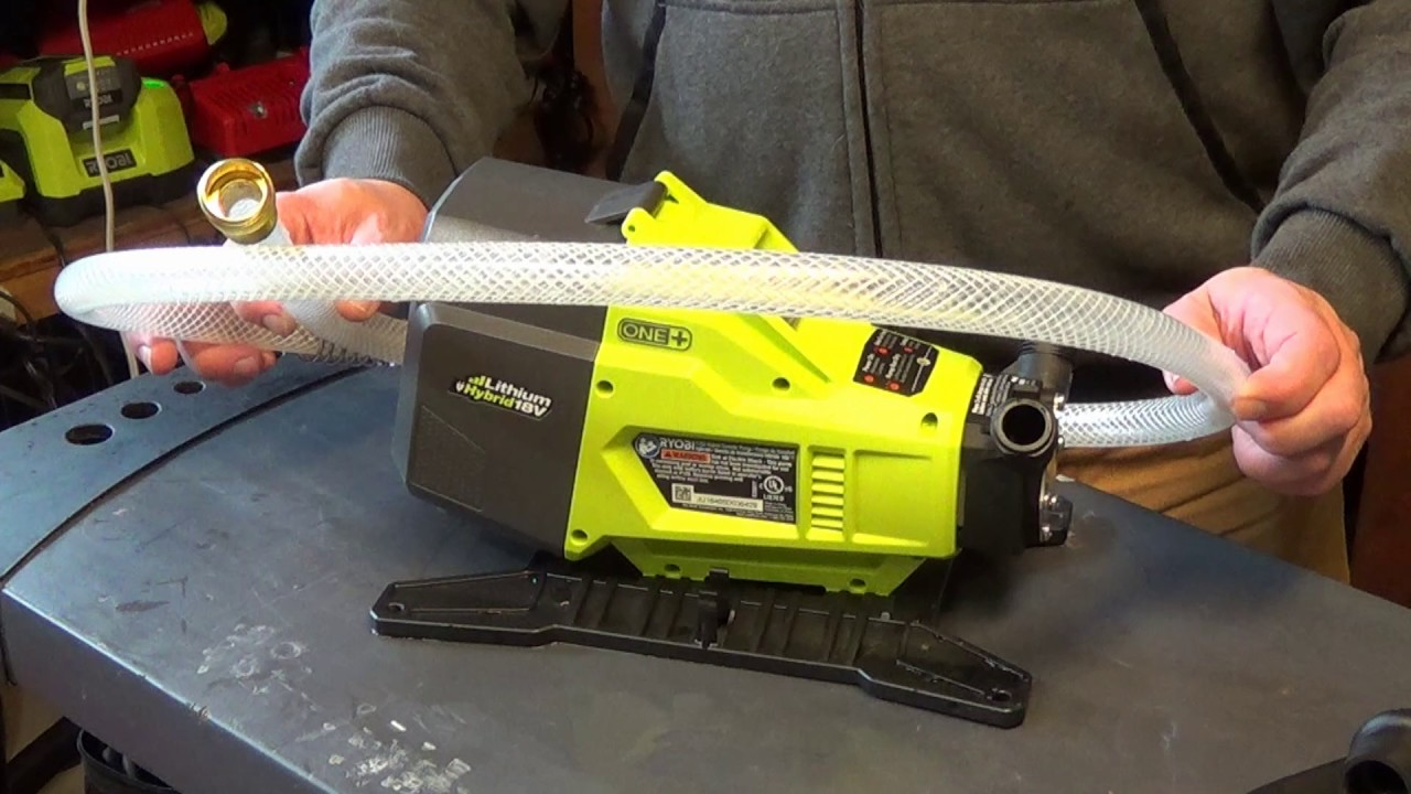 Ryobi P750 18 Volt Hybrid Transfer Pump Review Youtube
