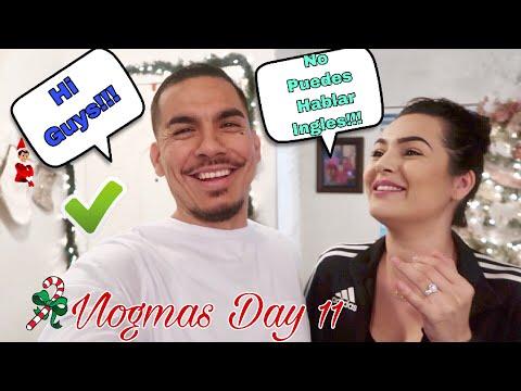 YOU CAN'T SPEAK ENGLISH CHALLENGE!!! (SPANISH VLOG) VLOGMAS DAY 11
