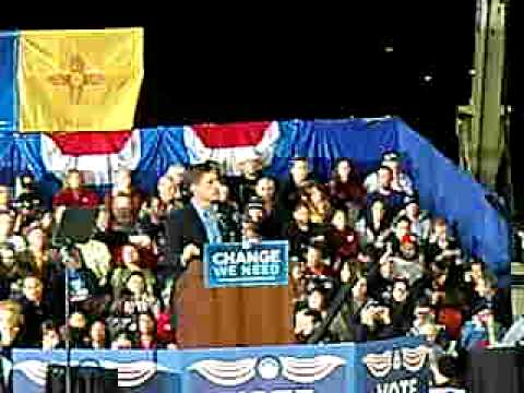 Martin Heinrich at Obama Rally