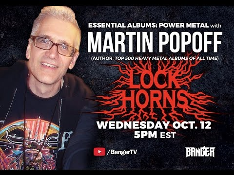 LOCK HORNS | Power Metal Essential Albums debate with author Martin Popoff