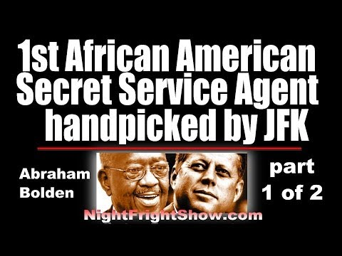 Abraham Bolden video 1st Black Secret Service JFK assassination Part 1of 2 Night Fright Holland