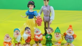 FAIRY TALES: SNOW WHITE AND THE SEVEN DWARFS, BRANCA DE NEVE E OS SETE ANOES unboxing toys