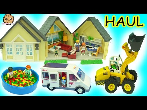 Thumbnail: Tuesday Morning Big Playmobil Toy Haul - Babies In Ball Pit, Cars, Doll House + More