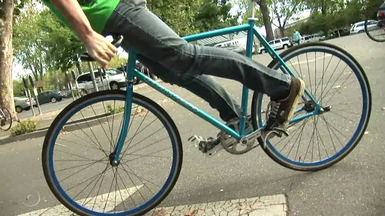 Fixed Gear Bicycle Competition - YouTube