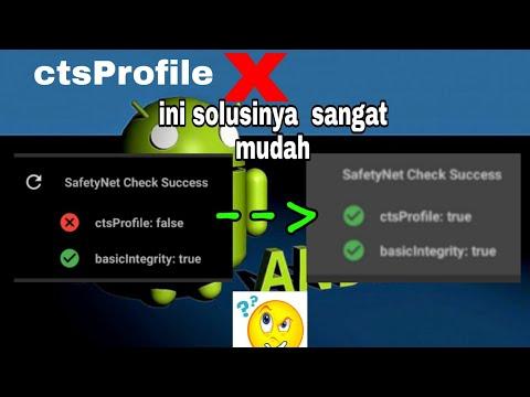 Safetynet fix || Fix ctsProfile Cara mengatasi Magisk ctsprofile false / silang merah
