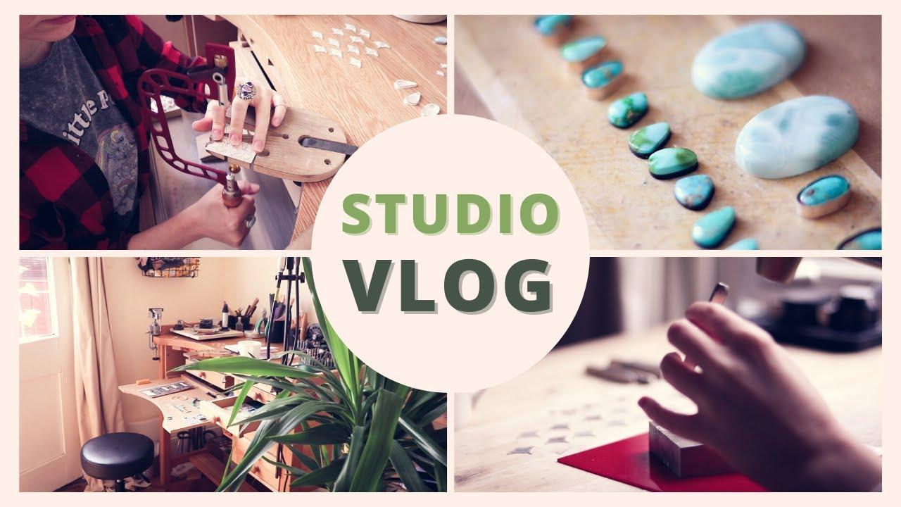 JEWELER'S STUDIO VLOG - making tiny bezels, stamping, sawing