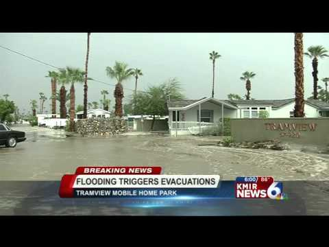 Flooding Shuts Down Hwy 111 in Cathedral City