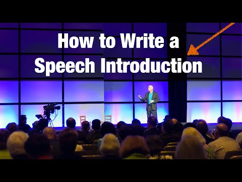 How to write a speech Introduction