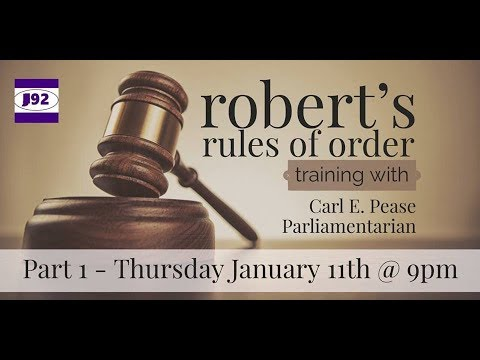 Roberts Rules of Order: Session 1 of 2