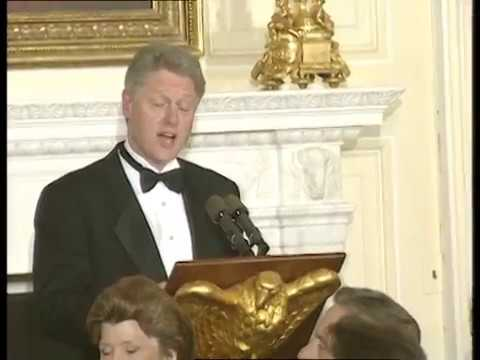 President Clinton at State Dinner for President Chirac (1996)