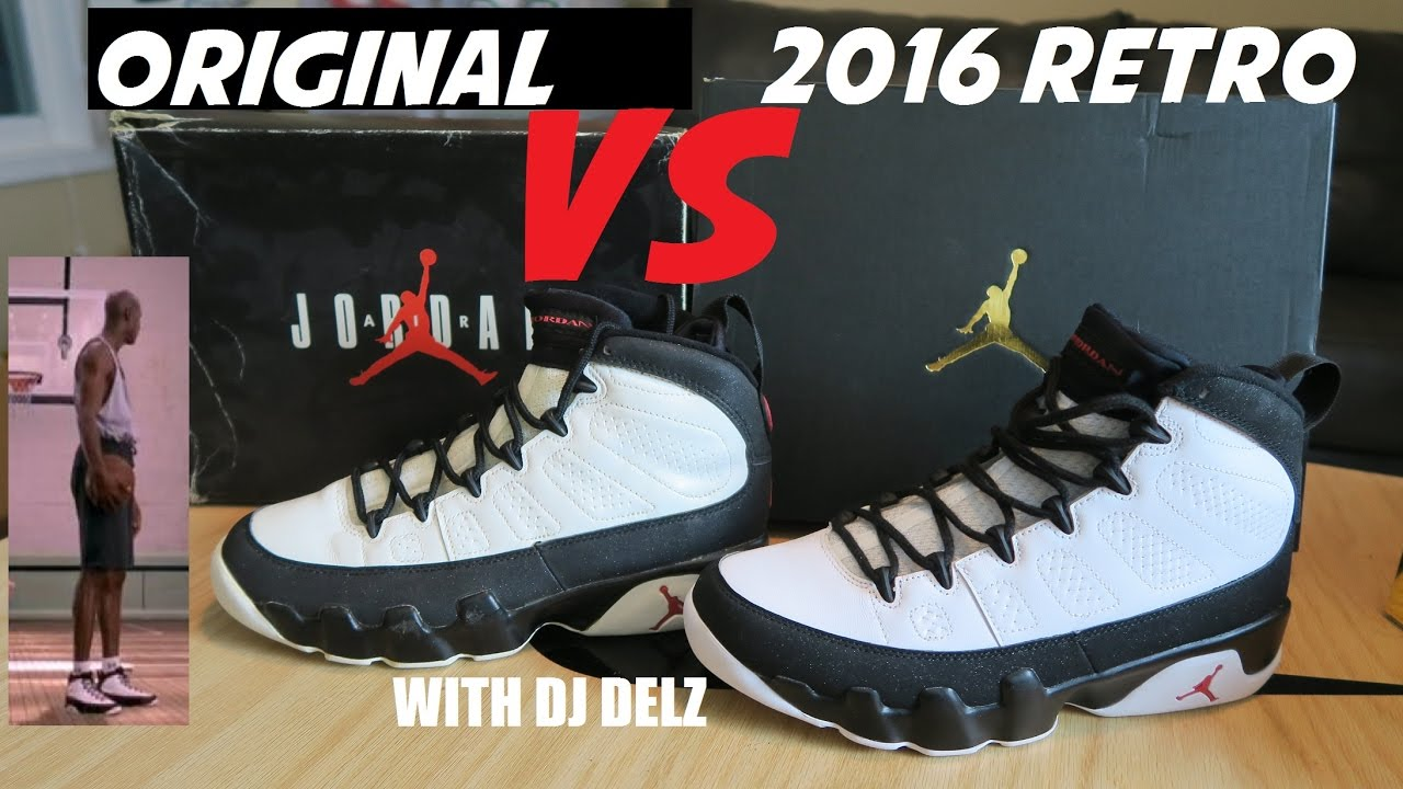 bfe617c202b9c4 Air Jordan 9 Space Jam 2016 VS Original 1993 Shoe Comparison + On ...