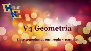 V4 Dado un segmento, construir un triangulo