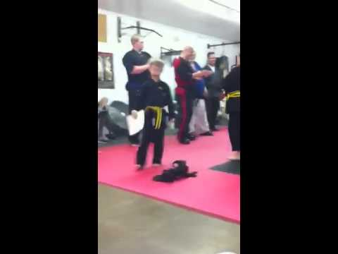 Grant Huff gets his Gold Belt