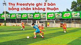 Giao Hữu Bóng Đá 7vs7 | Trở lại sân cỏ, Thy Freestyle ghi 2 bàn bằng chân không thuận