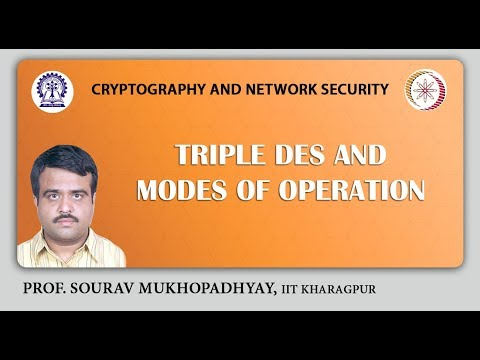 Triple DES and Modes of Operation.