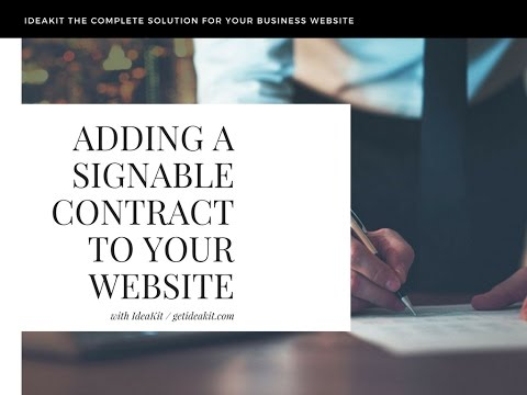 Awesome website tip add online contracts with signatures to your website