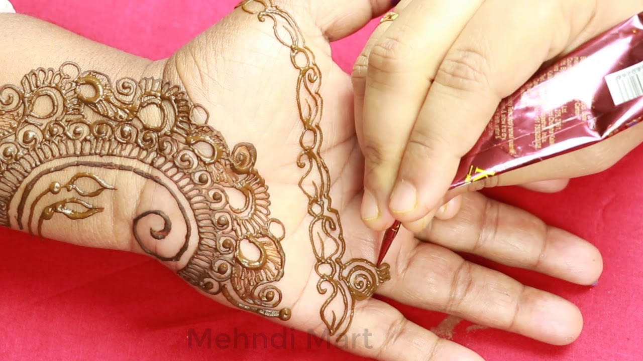Very Easy Beautiful And Simple Mehndi Design For Front Hand
