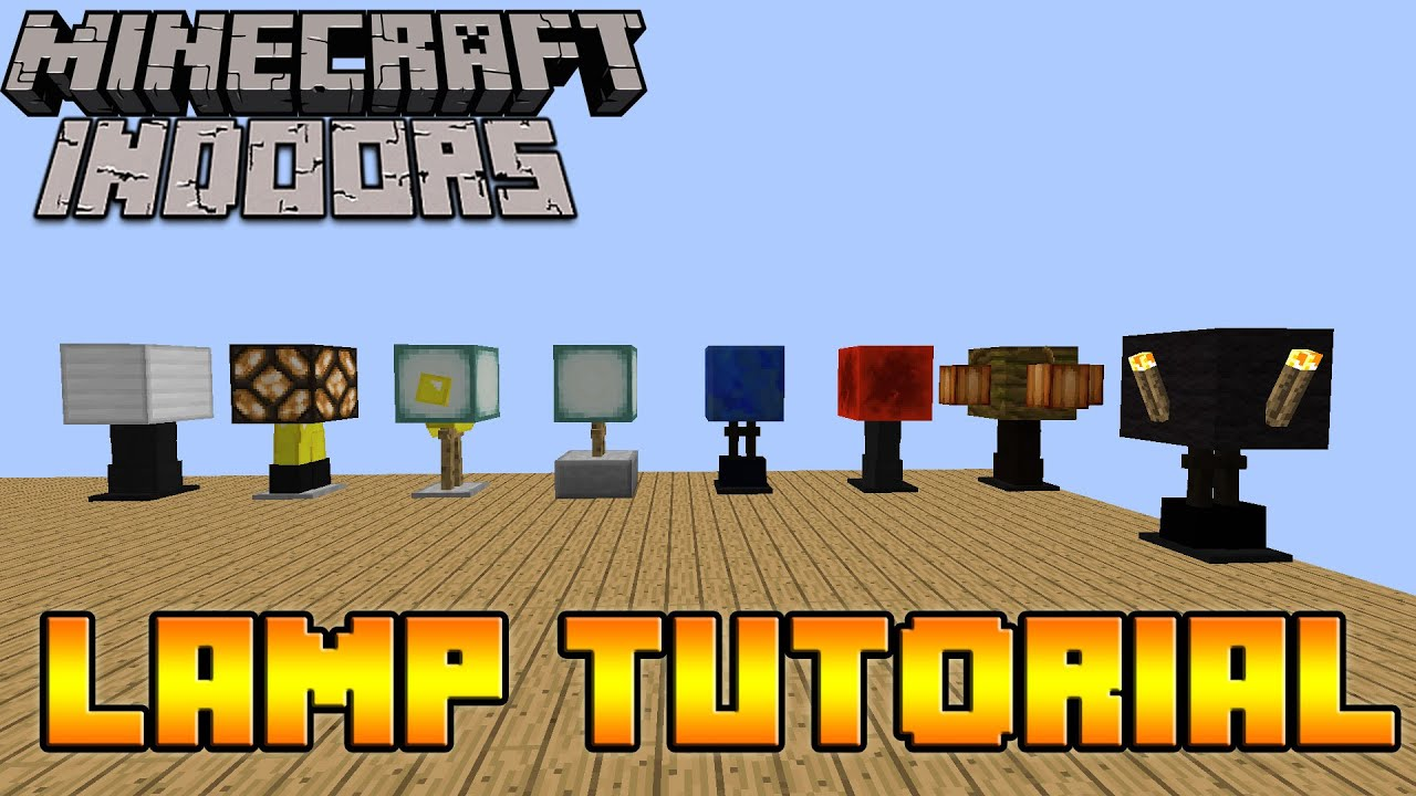 Decorating Ideas For The Bedroom How To Make Lamps In Minecraft Minecraft Indoors