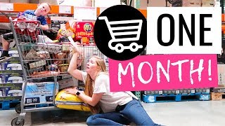 $340 HEALTHY Monthly Grocery Shopping Haul | WHOLE 30 Costco Grocery Haul and Target Grocery Haul