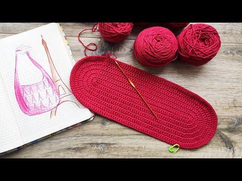 Схема вязание крючком сумка