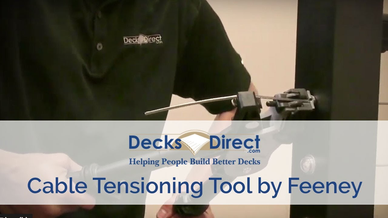Cable Tensioning Tool for CableRail - YouTube