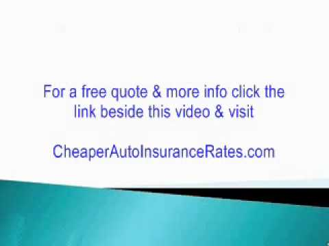 Cheapest Car Insurance In Florida Get Cheap Auto Insurance Youtube